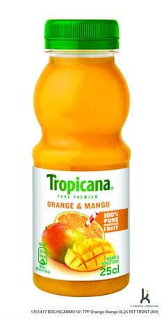 Tropicana Jus Orange Mango 8x250ml