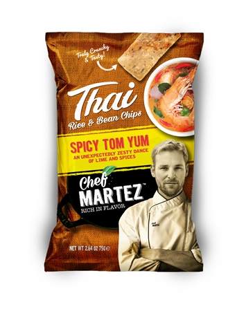 Chef Martez Thai Chips Tom Yum 24x75gr NEW