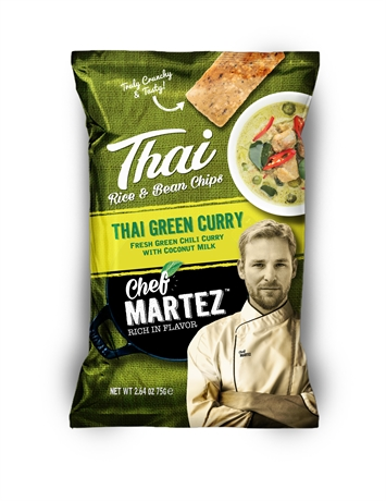 Chef Martez Thai Chips Green Curry 24x75gr NEW