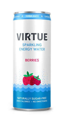 Virtue Energy Water Berries 12x250ml NEW