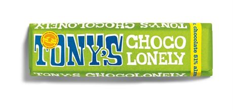 Tony's Chocolate Dark Almond Sea Salt 35x47gr