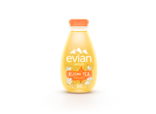 Evian Kusmi Tea Pêche & Violette BIO 12x370ml NEW