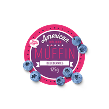 American Muffin Blueberry 6x125gr