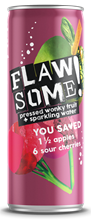 Flawsome! Apple Cherry Fizzy Fruit Water 24x250ml