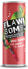Flawsome! Apple Rhubarb Fizzy Fruit Water 24x250ml