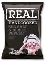 Real Crisps Black Pepper 12x150gr