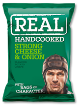 Real Crisps Cheese & Onion 12x150gr