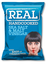 Real Crisps Salt & Vinegar 12x150gr