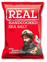 Real Crisps Sea Salt 12x150gr