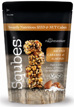 Squbes Dark Salted Caramel & Almond 8x100g NEW