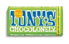 Tony's Chocolate Dark Almond Sea Salt 15x180gr